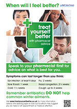 140917 Treat Yourself Better with Pharmacist Advice GP Poster Self Care Forum Logo 1 page 001 150