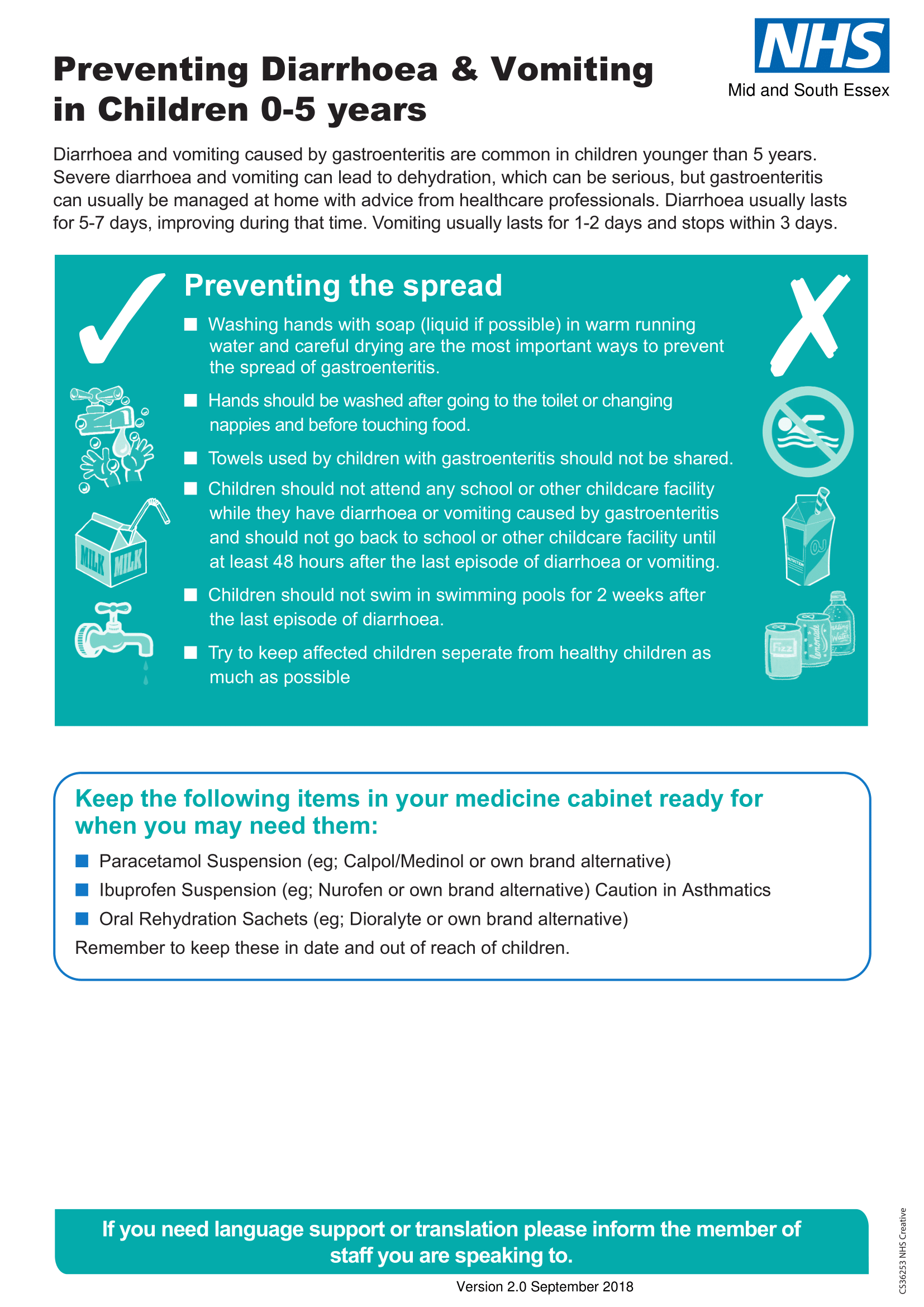 Essex Illness Specific flyer diarrhoea latest version final approved 2
