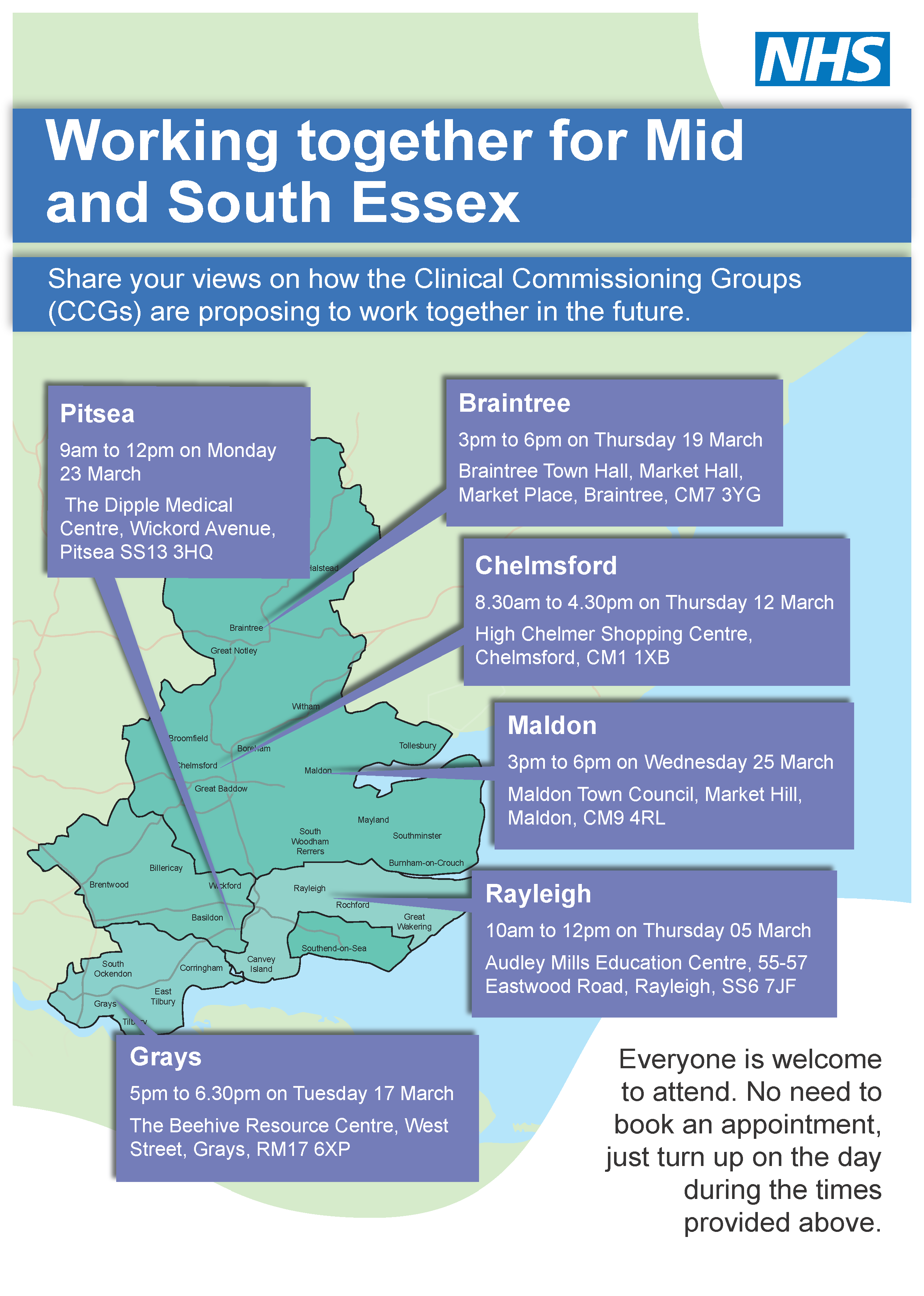 Essex discussion events poster