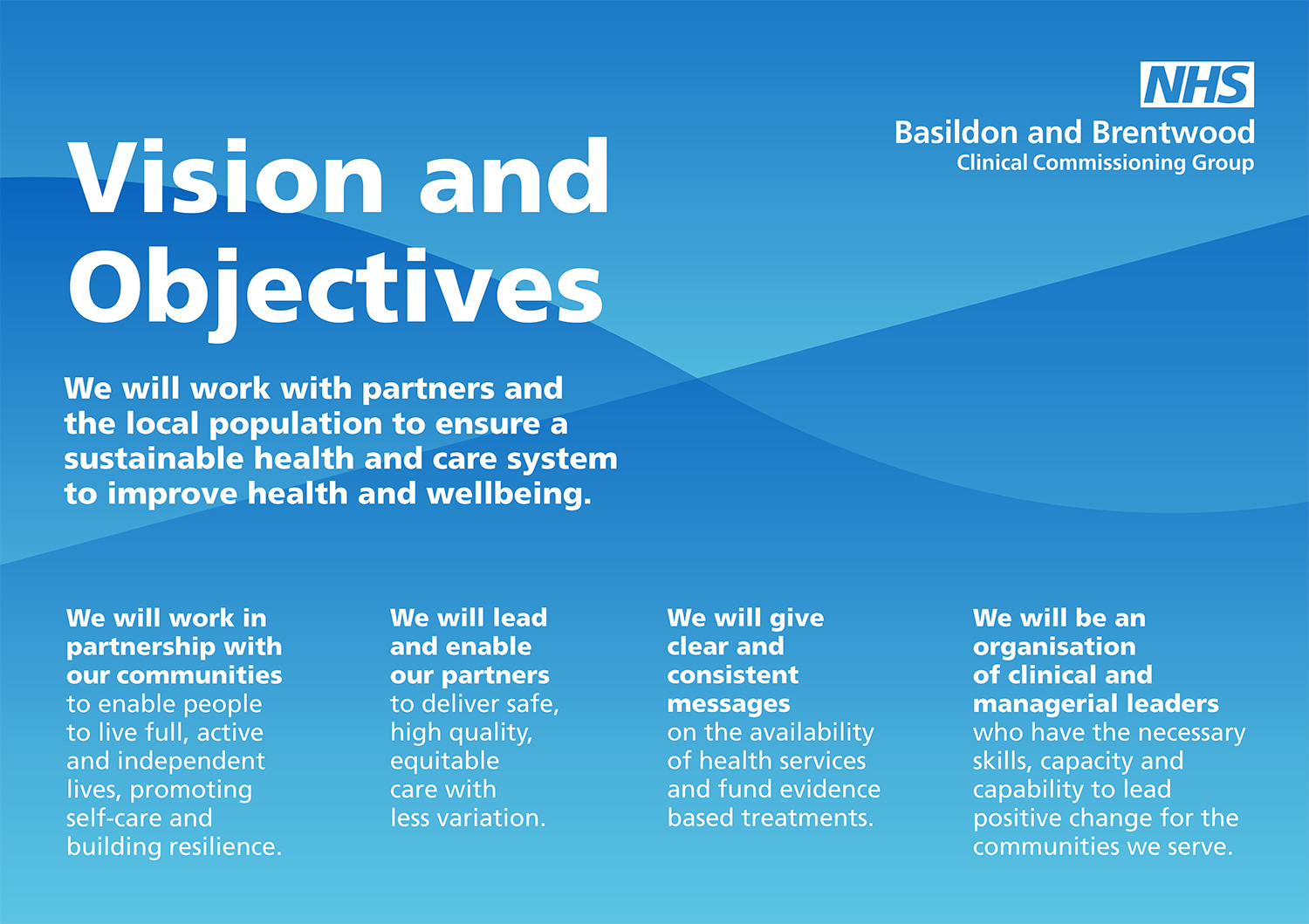 Graphic showing BBCCG Vision Objectives